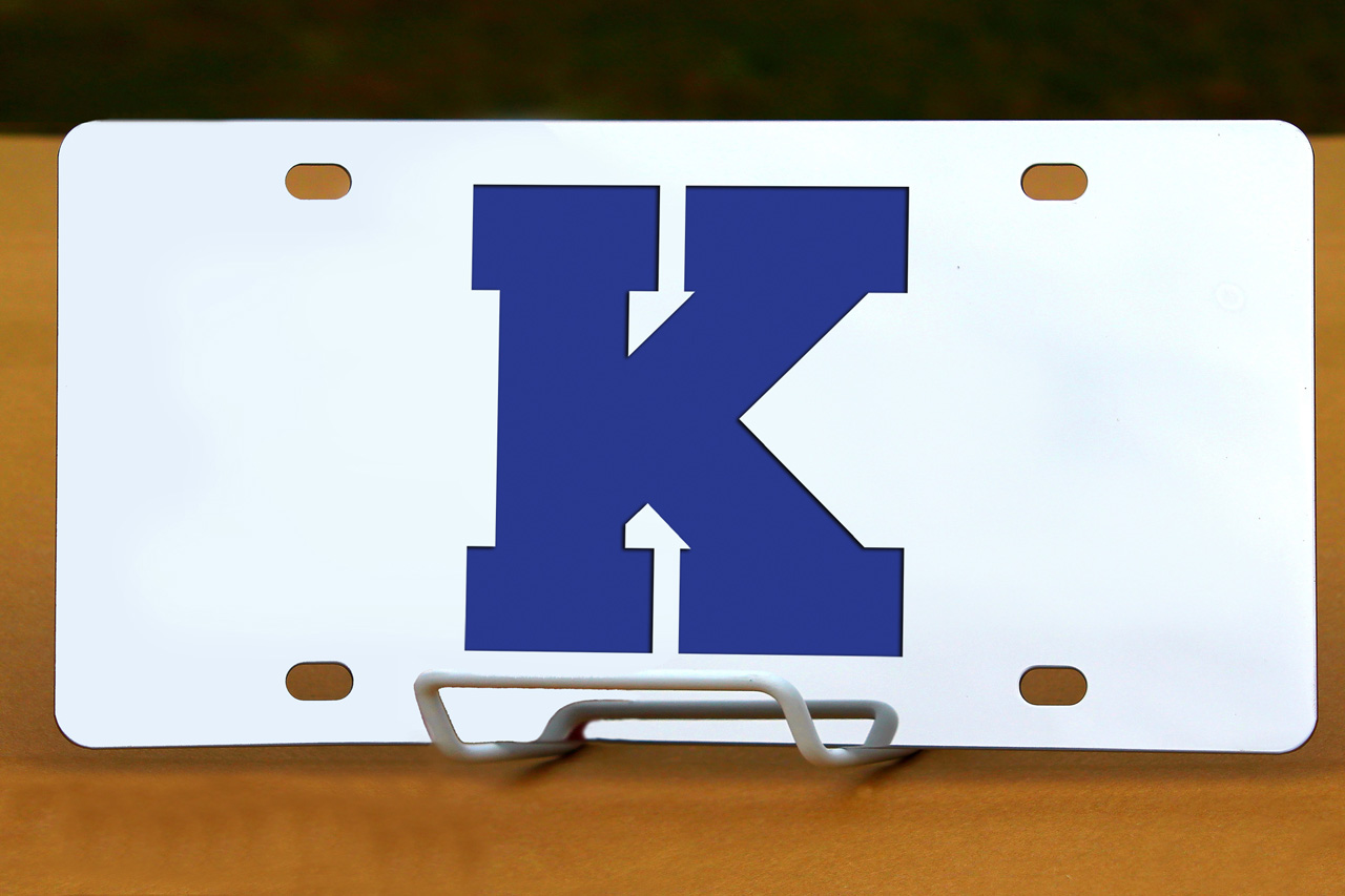 Custom License Plates K is for Kentucky
