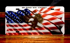 In God We Trust - Swooping Eagle - Arcylic License Plate
