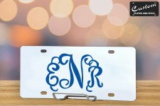 Personalized Interlocking Monogram License Plate ENR