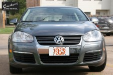 Personalized Round Monogram License Plate on Jetta