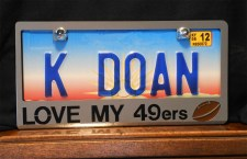 Love My 49ers- Custom Plate Frame Closeup