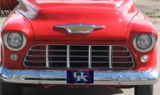University of Kentucky Barbwire Arcylic License Plate on a Classic Truck