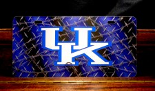 University of Kentucky Barbwire Arcylic License Plate